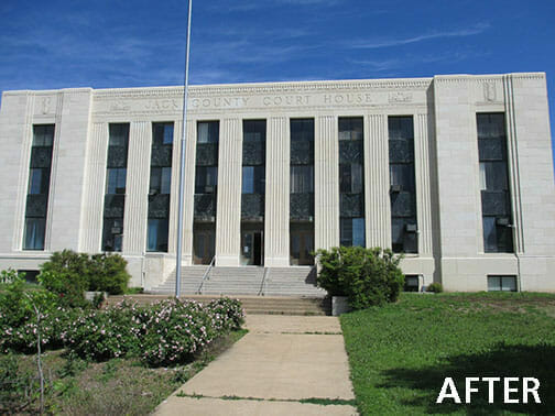 Cleburne Jack County Courthouse - After