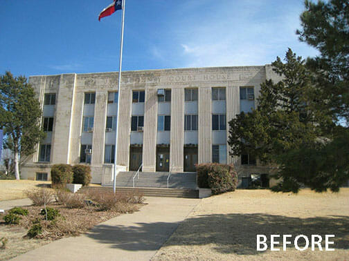 Jack County Courthouse Front before